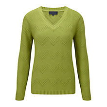 Buy Viyella Pampas Zig-Zag Stitch Jumper, Pampas Online at johnlewis.com