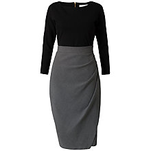 Buy Closet Drape Contrast Check Dress, Black/Grey Online at johnlewis.com