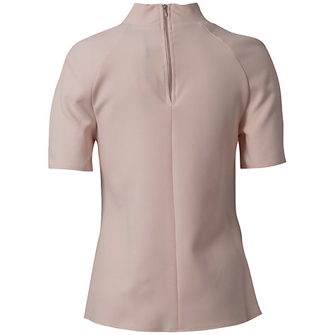 Buy Closet Lace Front Collar Top, Pale Pink Online at johnlewis.com