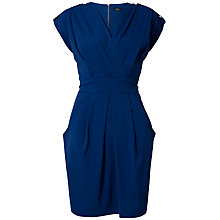 Buy Closet Cross Over Epaulette Dress, Blue Online at johnlewis.com