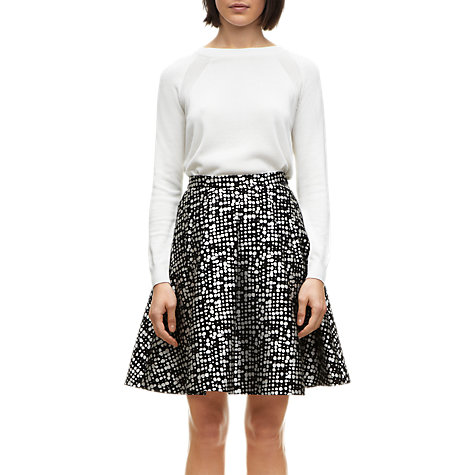 Buy Whistles Lucie Spot Skirt, Black / White Online at johnlewis.com