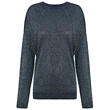 Buy Whistles Sophia Sparkle Knit Jumper, Navy Online at johnlewis.com