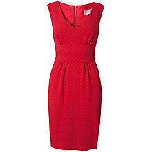 Buy Almari V-Neck Double Waistband Dress, Pink Online at johnlewis.com