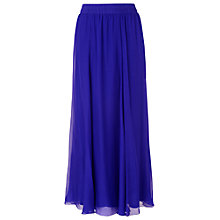 Buy Phase Eight Iona Silk Maxi Skirt, Periwinkle Online at johnlewis.com