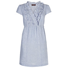 Buy Phase Eight Madge Ruffle Tunic, Pale blue Online at johnlewis.com