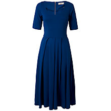 Buy Closet Scoop Neck Midi Dress, Bright Blue Online at johnlewis.com