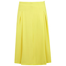 Buy Miss Selfridge A-Line Mid Length Skirt, Yellow Online at johnlewis.com