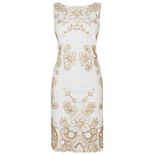 Buy Phase Eight Audrey Embroidered Dress, Ivory/Stone Online at johnlewis.com