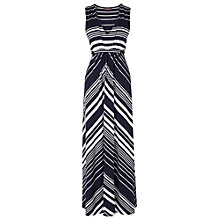 Buy Phase Eight Mandy Stripe Dress, Navy/Ivory Online at johnlewis.com