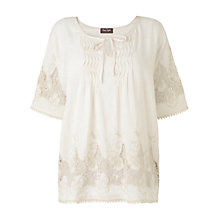 Buy Phase Eight Ingrid Embroidered Blouse, Stone Online at johnlewis.com
