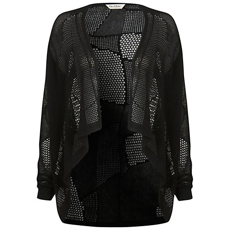 Buy Miss Selfridge Mesh Waterfall Cardigan, Black Online at johnlewis.com