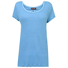 Buy Phase Eight Sicily Maddie Linen Top, Cornflower Online at johnlewis.com