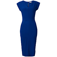 Buy Closet Waffle V-Neck Midi Dress, Bright Blue Online at johnlewis.com