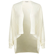 Buy Miss Selfridge Mesh Waterfall Cardigan, Cream Online at johnlewis.com