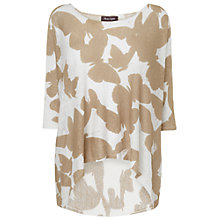 Buy Phase Eight Bridie Butterfly Print Top, White/Stone Online at johnlewis.com