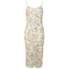 Buy Miss Selfridge Embroidered Floral Cami Dress, Cream Online at johnlewis.com