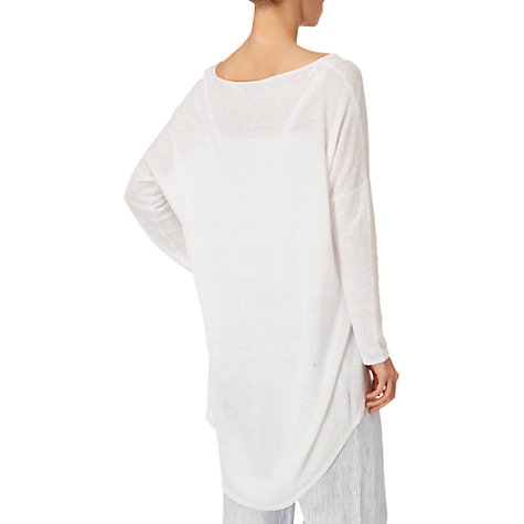 Buy Phase Eight Ellen Ellipse Hem Jumper, White Online at johnlewis.com