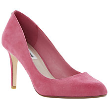 Buy Dune Allie Suede Court Heels, Pink Online at johnlewis.com