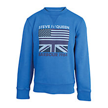 Buy Barbour Boys' Union Steve McQueen Sweatshirt, Marine Blue Online at johnlewis.com