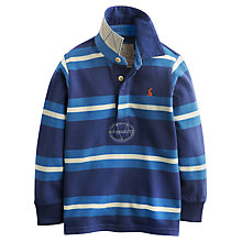Buy Little Joule Boys' Stripe Rugby Shirt, Blue Online at johnlewis.com