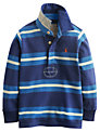Little Joule Boys' Stripe Rugby Shirt, Blue
