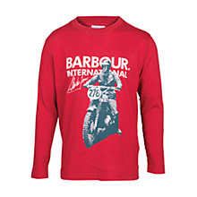 Buy Barbour Boys' Start Steve McQueen T-Shirt, Red Online at johnlewis.com