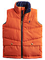 Little Joule Boys' Burt Quilted Gilet, Orange