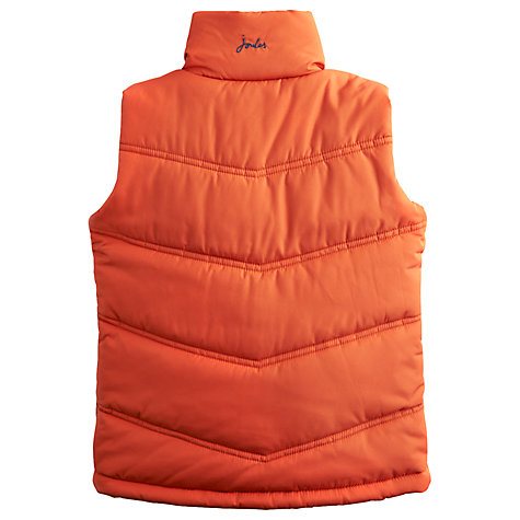 Buy Little Joule Boys' Burt Quilted Gilet, Orange Online at johnlewis.com