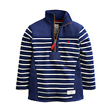Buy Little Joule Boys' Stripe Templeton Fleece, Blue Online at johnlewis.com