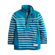 Buy Little Joule Boys' Templeton Half-Zip Fleece, Teal Online at johnlewis.com