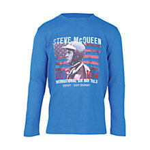 Buy Barbour Boys' Focus Steve McQueen Long Sleeve T-Shirt, Blue Online at johnlewis.com