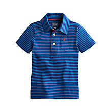 Buy Little Joule Boys' Tom Stripe Polo Shirt, Blue Online at johnlewis.com
