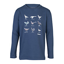 Buy Barbour Boys' Harper Long Sleeve T-Shirt, Blue Online at johnlewis.com