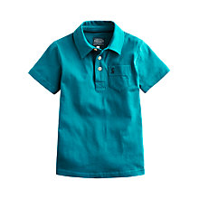 Buy Little Joule Boys' Polo Shirt, Teal Online at johnlewis.com