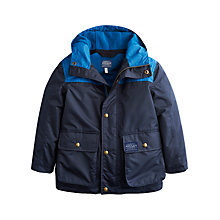 Buy Little Joule Boys' Maybury Coat, Navy Online at johnlewis.com