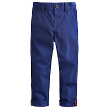 Buy Little Joule Boys' Rafe Chino Trousers, Navy Online at johnlewis.com