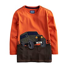 Buy Little Joule Boys' Jack Jeep Motif T-Shirt, Orange Online at johnlewis.com