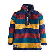 Buy Little Joule Boys' Woozle Stripe Fleece, Multi Online at johnlewis.com