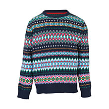 Buy Barbour Boys' Piper Fair Isle Jumper, Multi Online at johnlewis.com
