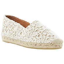 Buy Dune Black Gayle Canvas Espadrilles, Cream Online at johnlewis.com