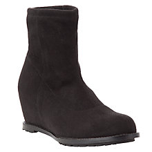 Buy John Lewis Isla Wedge Ankle Boot, Black Online at johnlewis.com