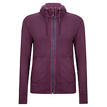 Buy BOSS Orange Ztylo Jersey Hoodie, Purple Online at johnlewis.com