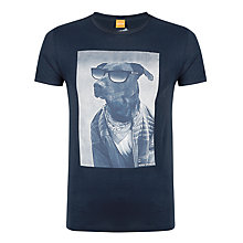Buy BOSS Orange Touchdown Dog T-Shirt, Navy Online at johnlewis.com