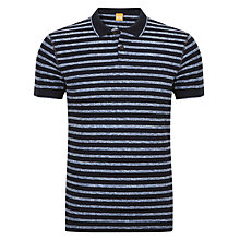 Buy BOSS Orange Pointot Striped Polo Shirt, Blue Online at johnlewis.com