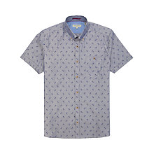 Buy Ted Baker Ripitup Floral Print Shirt, Blue Online at johnlewis.com