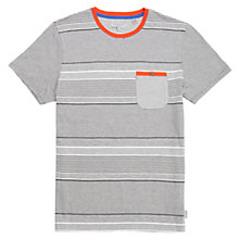 Buy Ted Baker Gervey Striped T-Shirt, Grey Marl Online at johnlewis.com