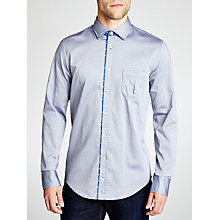 Buy BOSS Orange Eslime Oxford Shirt, Navy Online at johnlewis.com