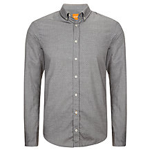 Buy BOSS Orange Edipoe Micro Weave Shirt, Grey Online at johnlewis.com