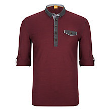 Buy BOSS Orange Patchman Polo Shirt, Burgundy Online at johnlewis.com