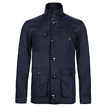 Buy Ted Baker Aragorn Contrast Yoke Jacket, Navy Online at johnlewis.com